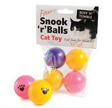Ruff N Tumble Snook R Balls Pack of 4 Ping Pong Balls Cat Toy Fun Play