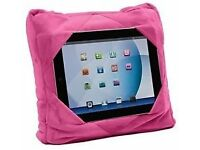 2 x GoGo Travel Beanie Pillow 3 in 1 Multi functional Soft Pink suitable for Tablet Ipad
