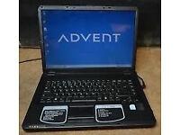 """WIRELESS ADVENT 3089UK Laptop. Windows 7. Wireless.15.4"""" SCREEN BARGAIN"""
