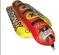 FuzionX 3X Dog Tube Hot Dog 3 seater towable water toy