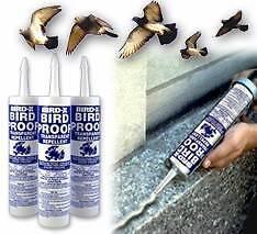 3 tubes BIRD PROOF GEL FOR SHEDS,CARPORTS, BARNS STOP THOSE BIRDS Mount Stuart Hobart City Preview