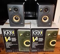 KRK V4 monitor speakers x 2 & Roland UA-25 audio interface bundle