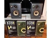 KRK V4 monitor speakers x 2 & Roland UA-25 audio interface bundle