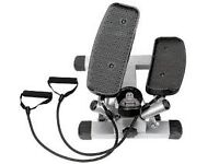 Sunny Health & Fitness Twist Stepper with resistance cords - lateral side stepper - new