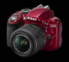 NikonD3300 SLR Camera RED with 18-105mm Lens Cabramatta Fairfield Area Preview