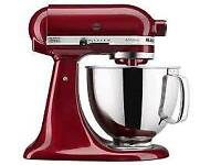 Kitchen aid mixer in red