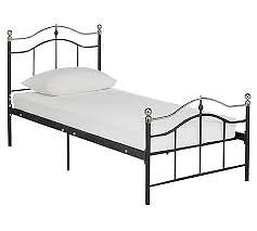 Brynley Single Bed and mattress - Black