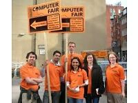 Hold a Computer Fair sign on Sunday 10am - 3.30pm. Urgently Required