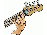 Bass Guitar Player With Vocals Required.