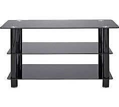 """Black glass TV stand for up to 42"""" TV"""
