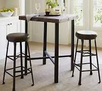 MODERN RUSTIC PUB TABLE! AND STOOLS!