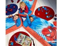 CAN DELIVER Marvel Spider Man Junior ReadyBed Kids Airbed Sleeping Bag in one