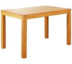 Oak stain dining table - new - still boxed