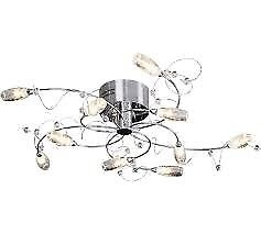 Belize 10 Light Ceiling Fitting - Silver