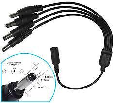 cctv camera 4 way splitter power supply