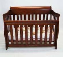 Love N Care Sleigh Covertible Cot + Extras Booval Ipswich City Preview