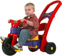 velo ajustable enfant little tikes 3 en 1 , peut devenir balanc