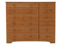 Nordic 6+6 Drawer Chest - Pine - Damaged