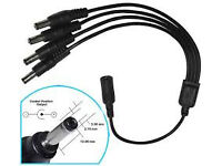 4 Ways Splitter DC Power Cable Extension Cord For CCTV Cameras Security System