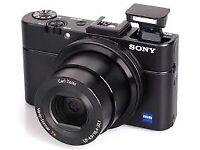 Sony Cyber-Shot DSC-RX100 II 20.2 Megapixel camera with Sony Case, 3 batteries, charger and 16GB SD