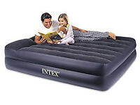 Intex durabeam air bed queen size with built-in pump