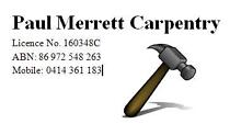 Paul Merrett Carpentry Long Jetty Wyong Area Preview