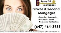 Private Mortgages & Second  Mortgages Call (647) 464-3939