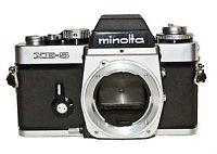 Boitier Camera argentique Minolta XE-5