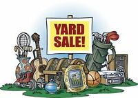 Yard sale this Saturday, everything must go