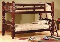BRAND NEW BUNK BED, SINGLE OVER SINGLE, 5 INCH THICK POSTS
