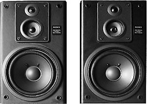 Classic SONY SS H3500 3 Way Bookshelf Speakers With Grills