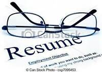 Professional Resume Writing and Editing Services - $30