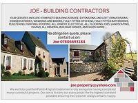 JOE BUILDING CONTRACTORS 07806693184