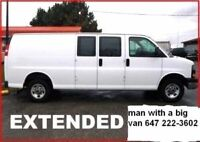 1 MAN WITH A BIG VAN (small moving jobs) 24/7 call 647 222-3602