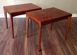 Mid century rosewood side tables