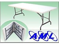 Ex-Display 6ft folding table - Christmas office, dining, parties, catering - car boots