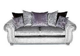 Crushed velvet sofa/chair/footstool