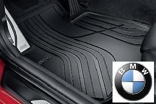 BMW Genuine All Weather Rubber FRONT  REAR Set Car Floor Mats Black F30F31