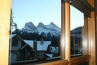 Canmore mountain retreat with stunning views and access to fun.