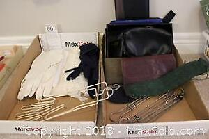 Gloves, Travel Hangers And Wallets. A