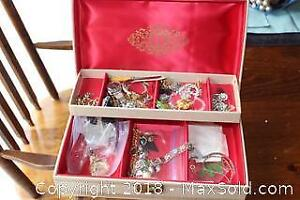 Jewellery Box And Contents - A