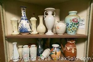 2 Shelves of Vases A