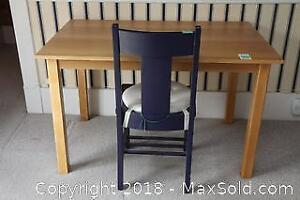 Wood Desk And Chair C