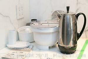 Faberware Percolator, Bosch Kitchen Machine and more A