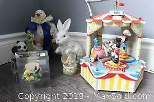 Disney Music Box And Figurines. A