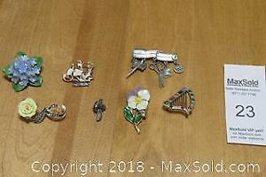 Signed Brooches - A