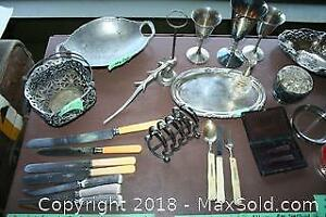 Assorted Silver Plated And Pewter Pieces