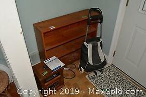Heater, Cart And Bookcase A