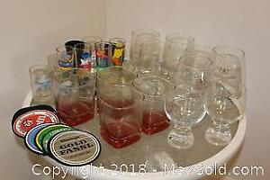 Assorted Bar Glasses, Kitchen Utensils, and More