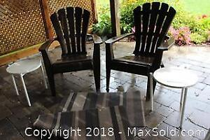 Patio Tables and Chairs. A